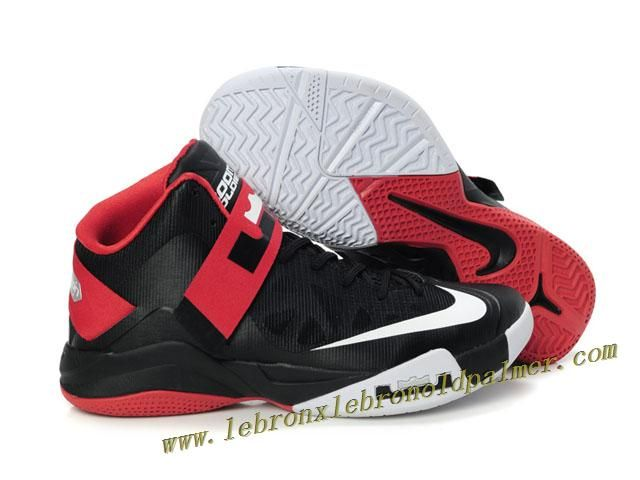 sale retailer 16795 07961 Nike Lebron Zoom Soldier VI Shoes Black Red White Discount