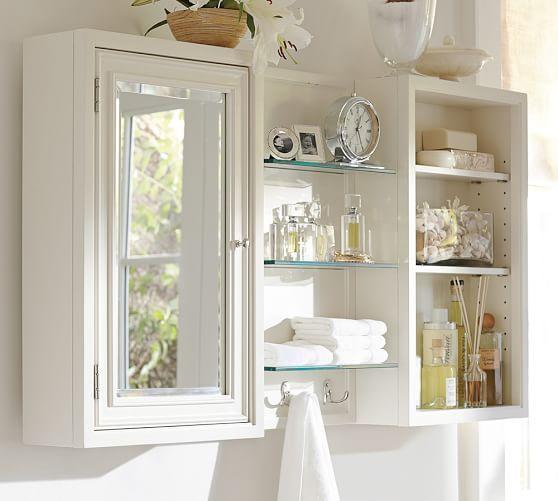 Modular Wall Storage Pottery Barndetails Medicine Cabinet Overall 16 Wide X 6 Deep 26 High Interior 15 5 24 Adjule Shelf
