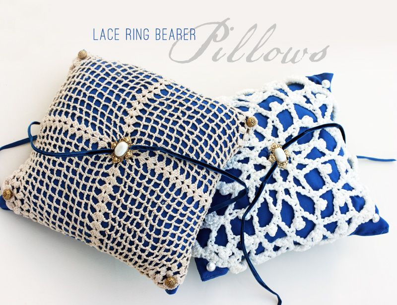 21 Beautiful DIY Ring Pillows To Make Ring bearer pillows Ring