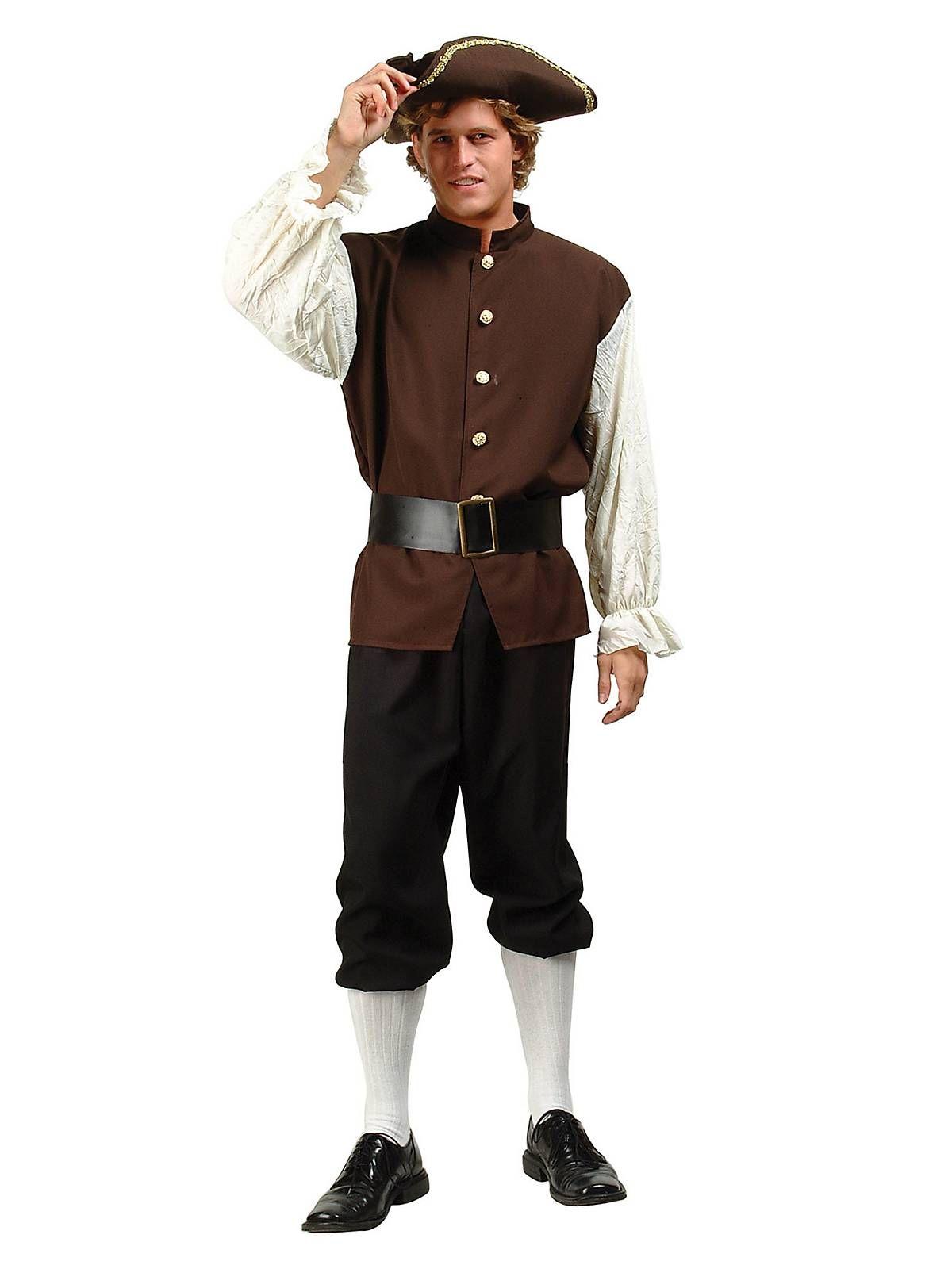 ef55bfe6b12 Mens Colonial   Pilgrim Peasant Costume