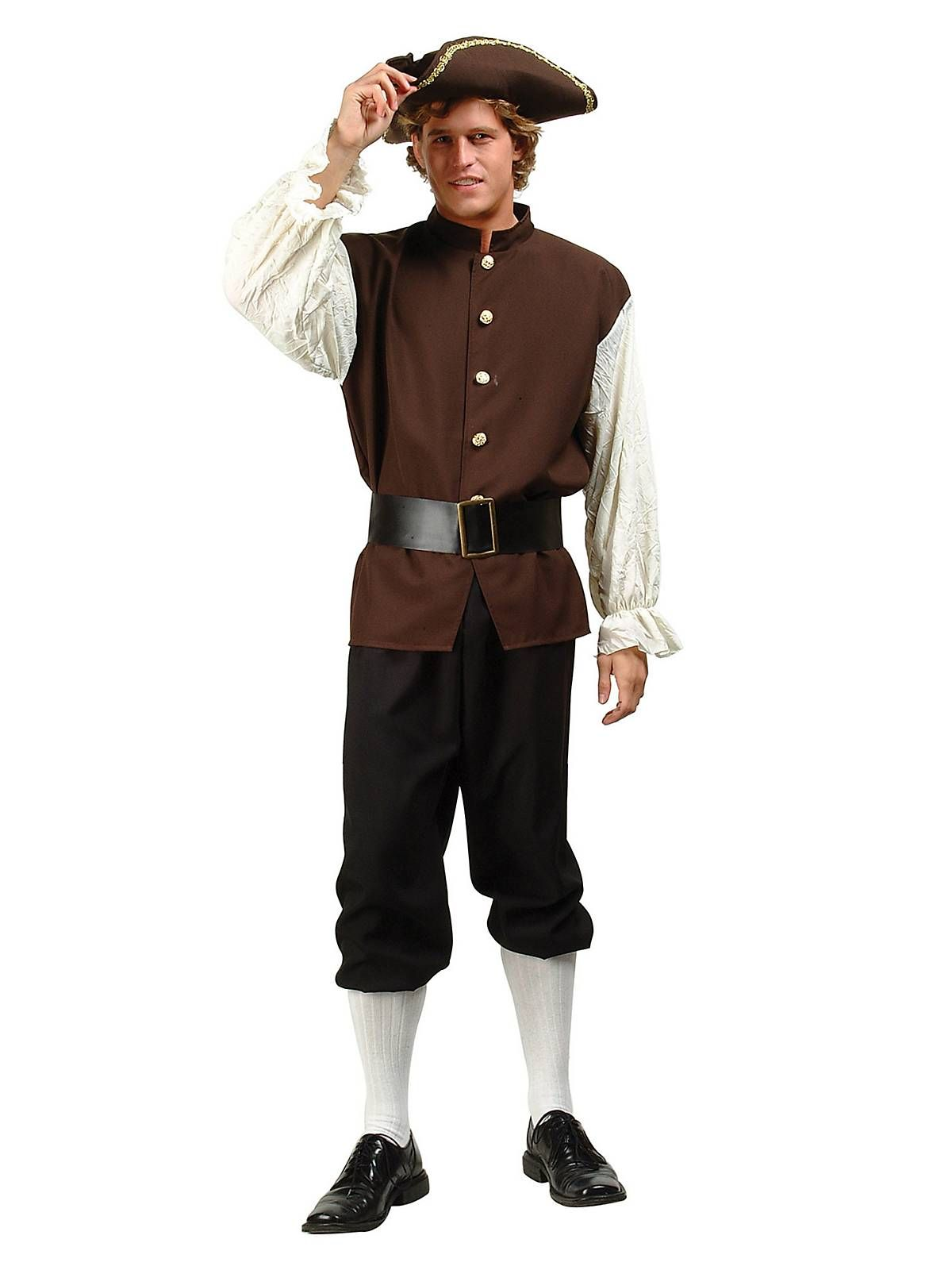 e947f5b3953 Mens Colonial / Pilgrim Peasant Costume | Cheap Historical Costumes for Men