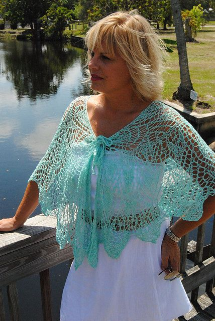 Little Hickory Knit Shawl Be So Fine Bamboo Yarn Crochet Pattern Kit