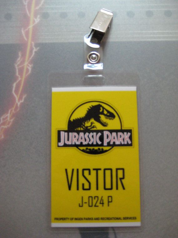 Jurassic Park Visitor ID Badge T2 By AutismTeddy On Etsy
