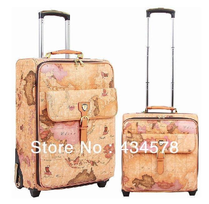 World map luggage set item no vl001 material genuine leather world map luggage set item no vl001 material genuine leathercowhide l gumiabroncs Image collections