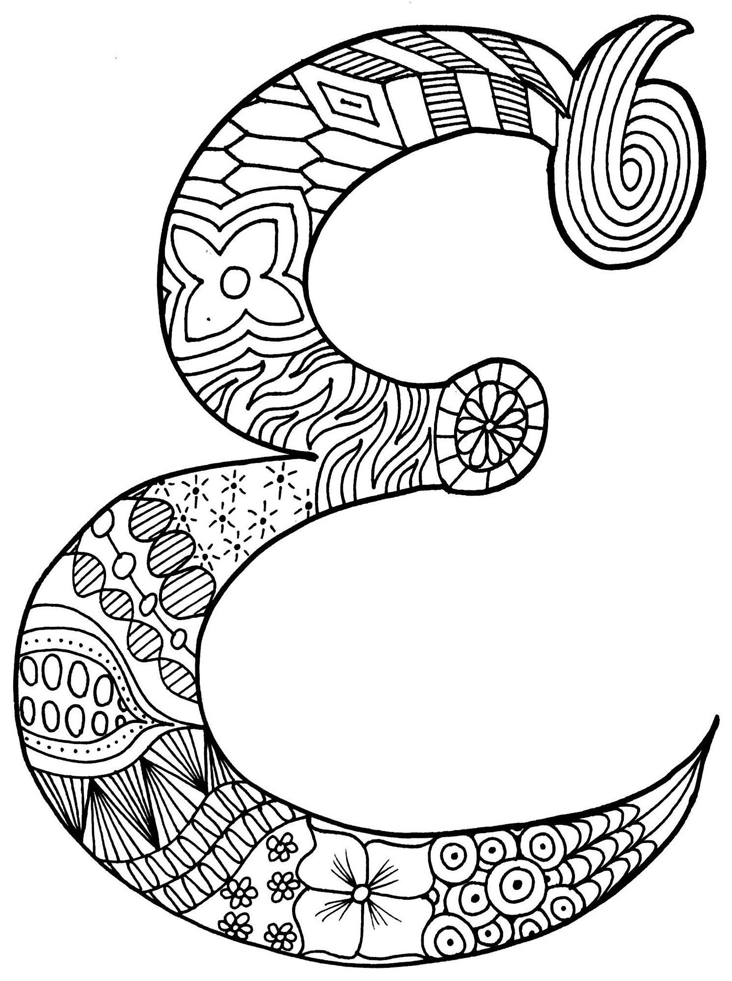 Letter E Fancy Letters Free Printable Coloring Pages Coloring