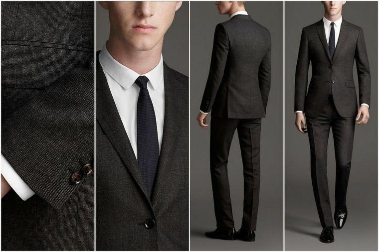 Abbigliamento con per elegante un giacca uomo pantalone nero e axragW 3154a5a89a7