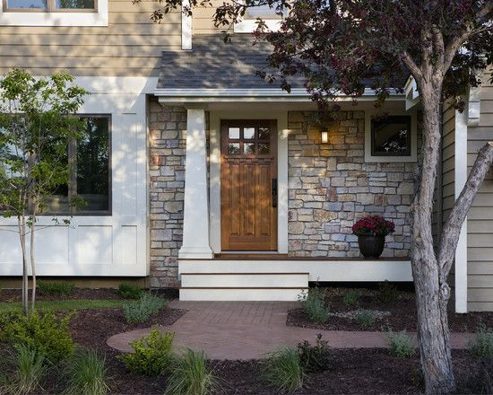 Modern Craftsman Exterior Stone With Plank Siding