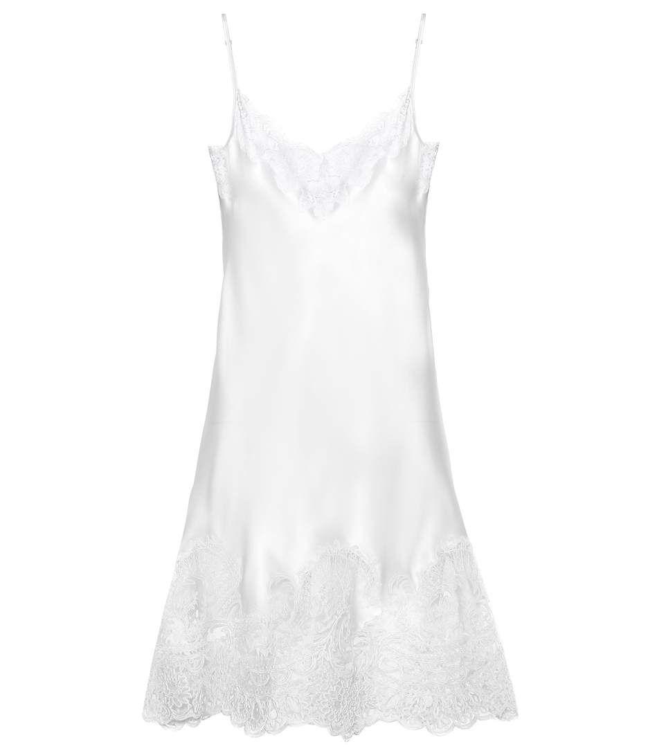 Silk Satin And Lace Slip Dress Lace Slip Dress White Slip Dress Silk Satin Dress [ 1088 x 962 Pixel ]
