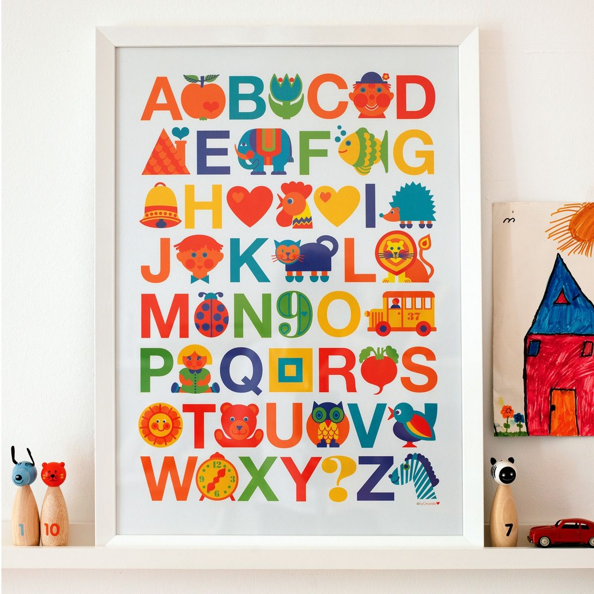 ABC Poster / Abc poster: Apple for A and Zebra for Z! Our Abc ...