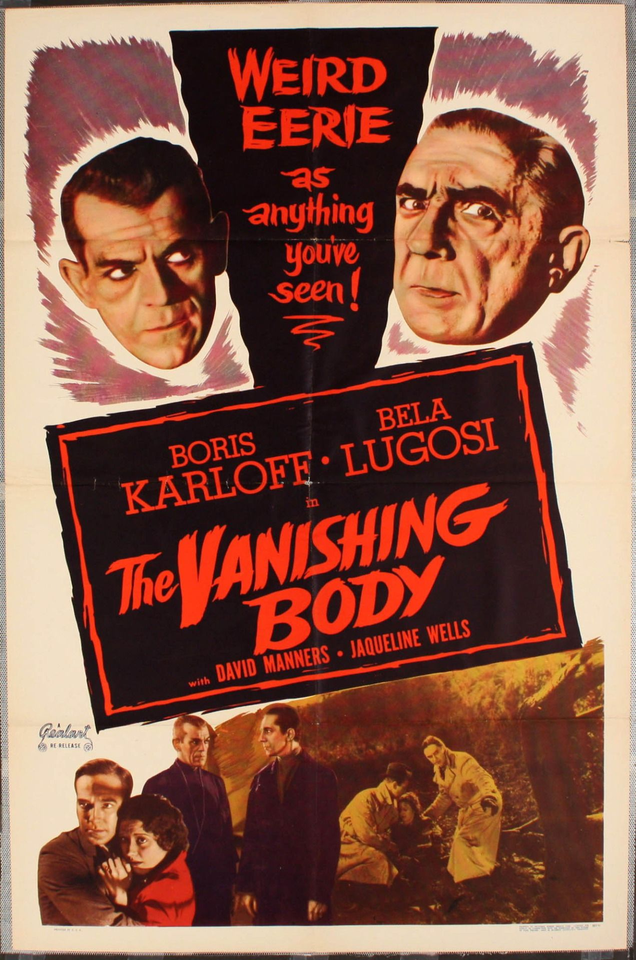 The Vanishing Body 1934 Aka The Raven Classic Movie Posters Classic Horror Movies Horror Posters