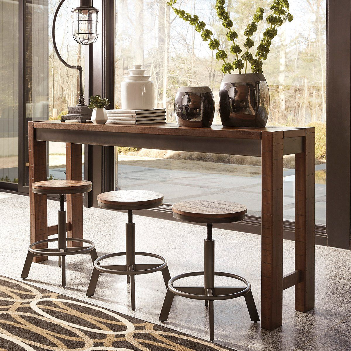 Wilson Masa Bar Brown Dining Room Set Counter Height Dining