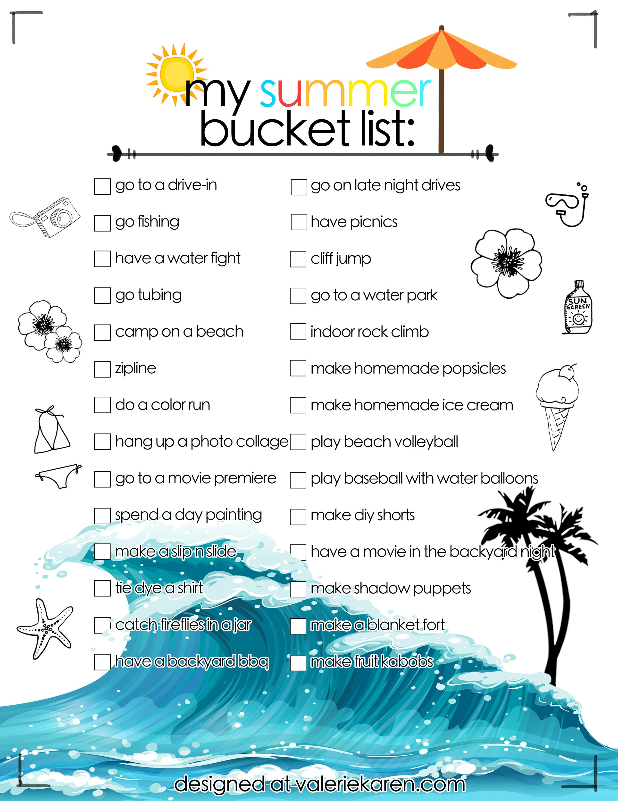 Best Summer Bucket List 2018 Ideas! Includes exciting outdoors ...
