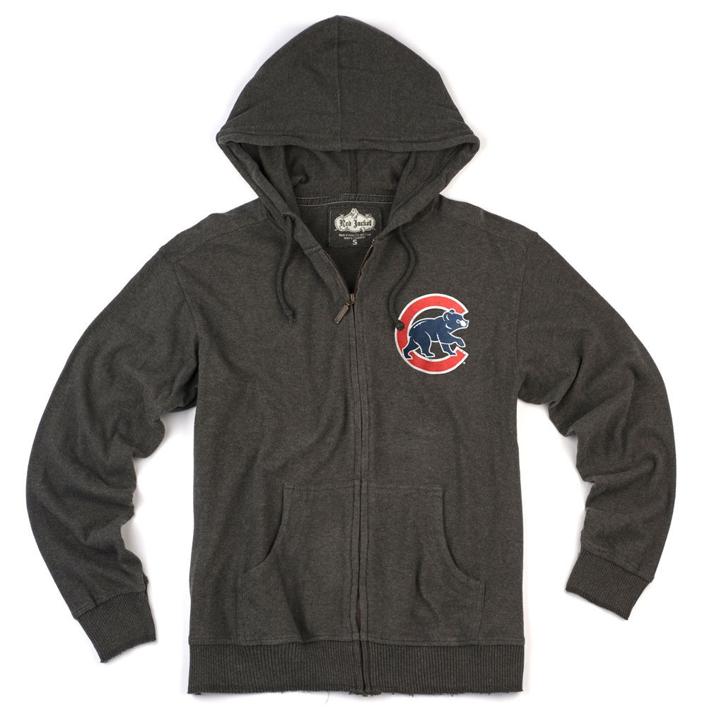 premium selection 018da 5f5b0 Chicago Cubs Charcoal Vintage Hoodie by Red Jacket | New ...