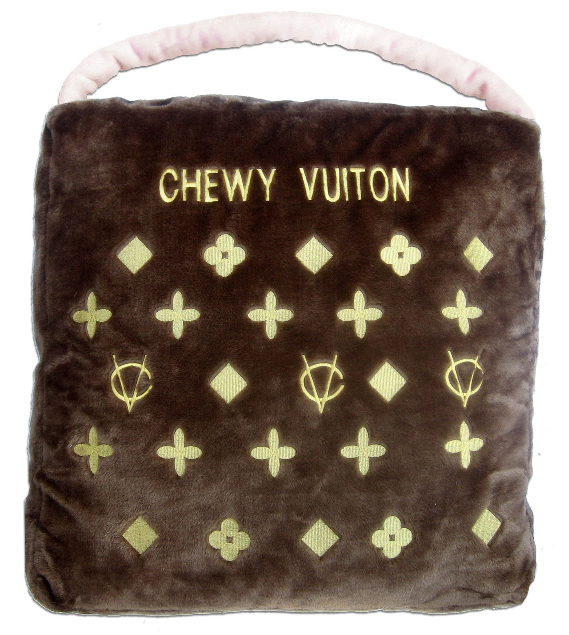 Chewy Vuiton Bed Designer pet beds, Plush pet bed, Dog