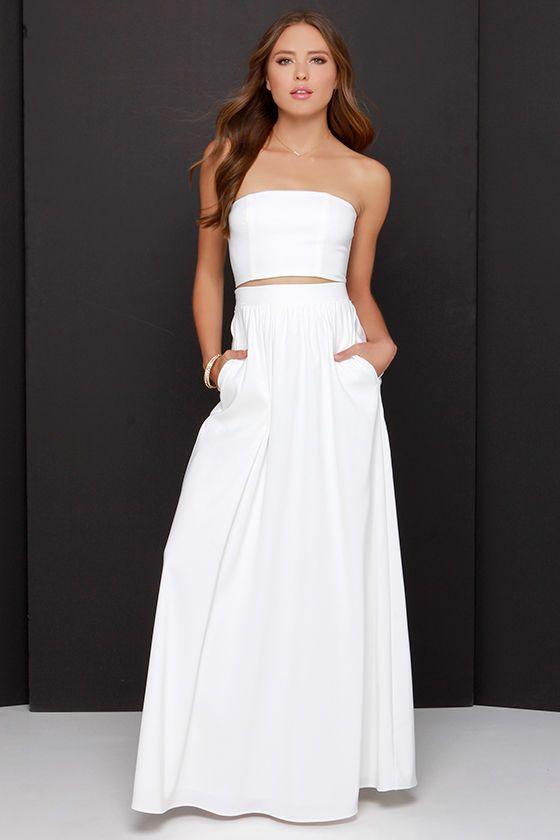 Two piece dress, Junior white dresses