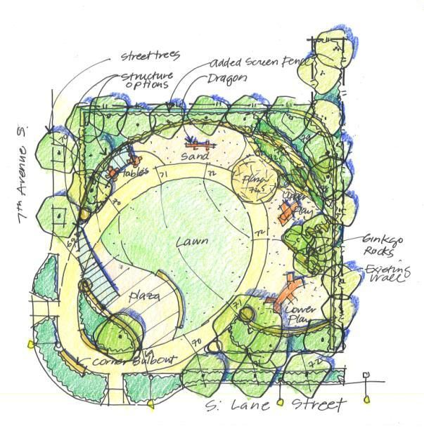 Community park plan google search rendering plan elev for Garden design map