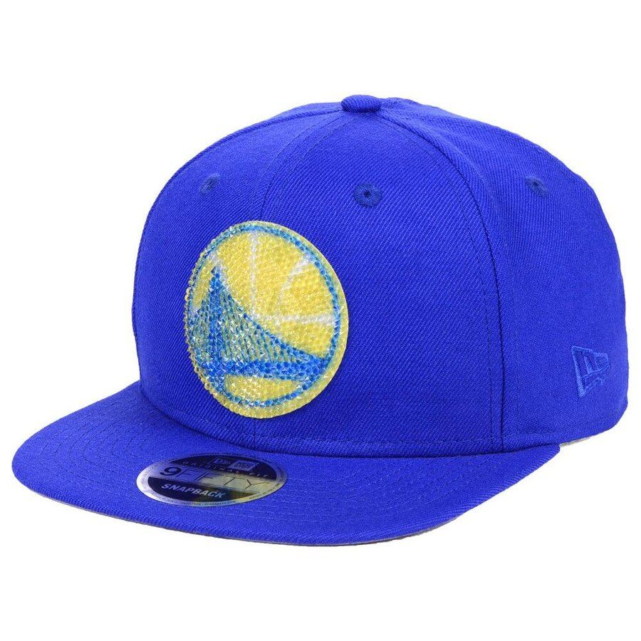new style 9e5d6 9175c Golden State Warriors New Era Swarovski Crystal 9FIFTY Adjustable Hat –  Royal, Your Price