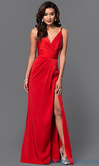 FA-7755 - Faviana Long V-neck Prom Dress | Formal, Prom and Shopping