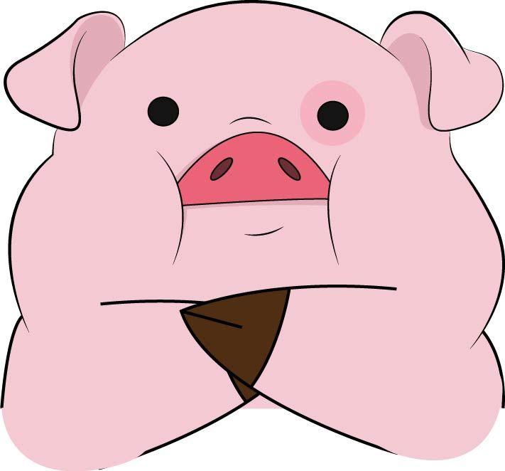 Картинки гравити фолз свинья