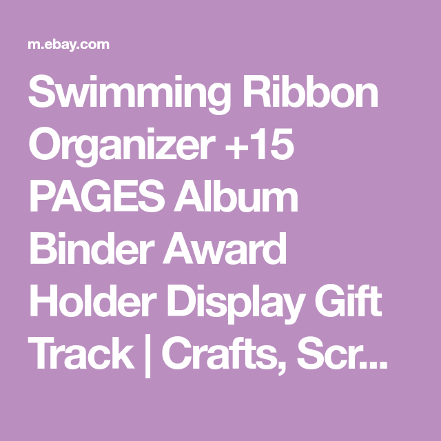Details About Swimming Ribbon Organizer 15 Pages Album Binder