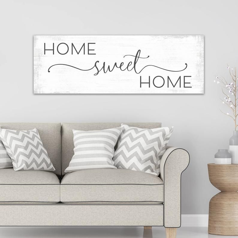 Large Home Sweet Home Sign Home Sweet Home Canvas Wall Art Etsy Home Signs Sweet Home Large Homes
