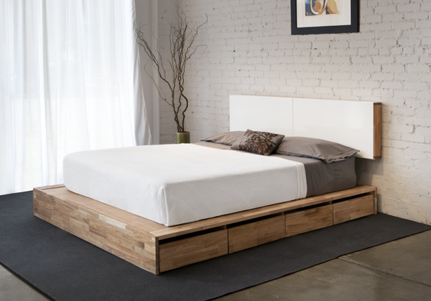 Mash Studios Lax Platform Bed With Storage I Know Ikea Has A Bed Quite Similar But I Love The Idea Of A More Natural Wood Lo Home Diy Platform Bed Bed