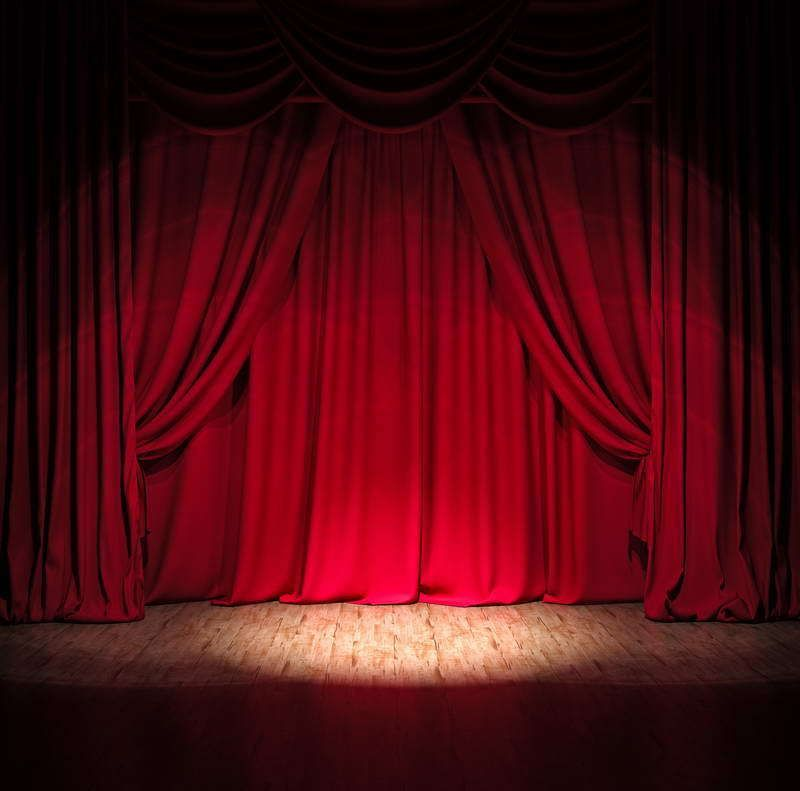 Stage Photography Background Red Curtain Backdrop Studio Props