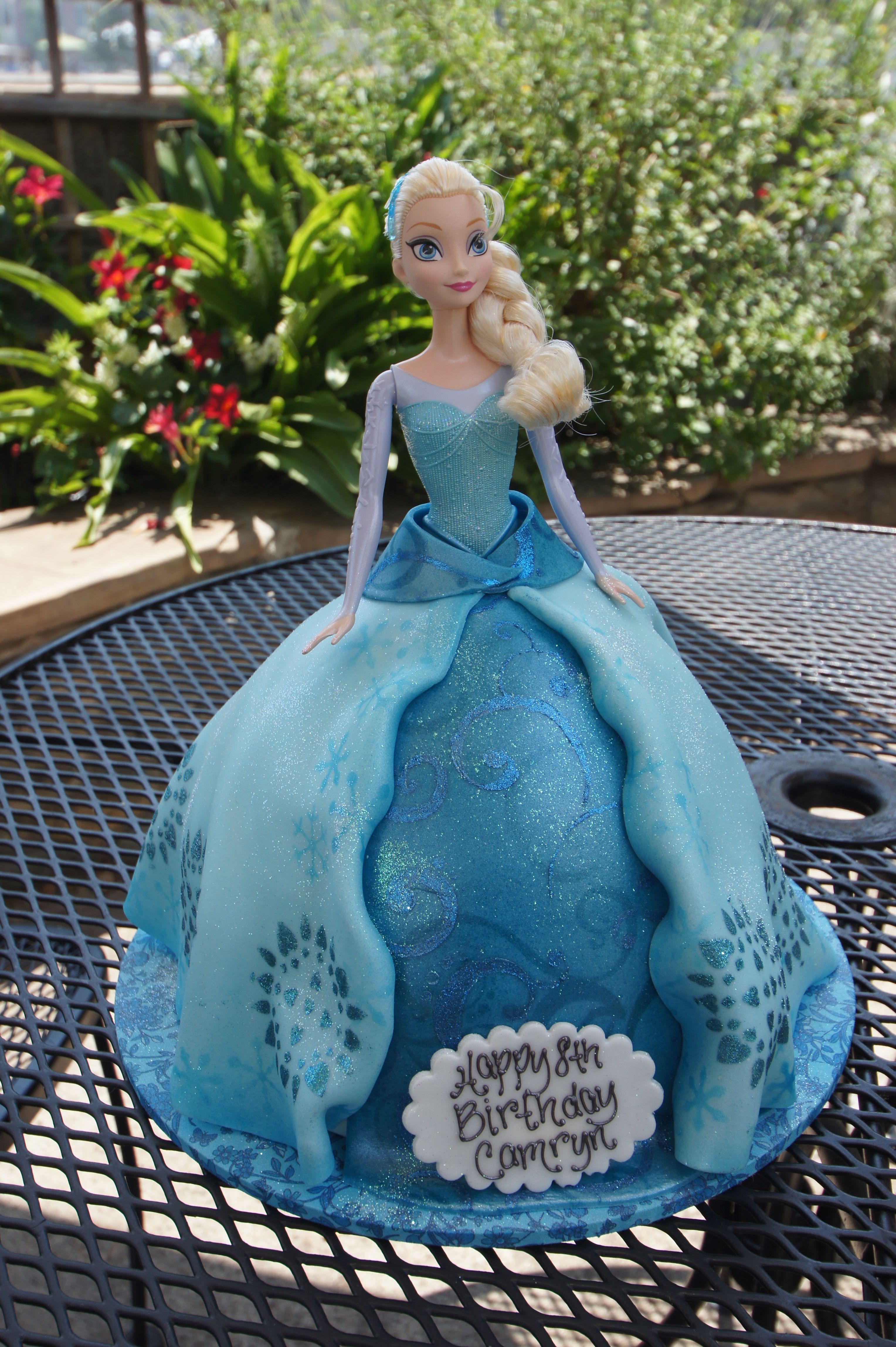Disney Frozen Elsa doll birthday cake Shaped Cakes Pinterest