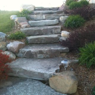 Best Slab Stone Steps Wide Classy Great For Lots That 640 x 480