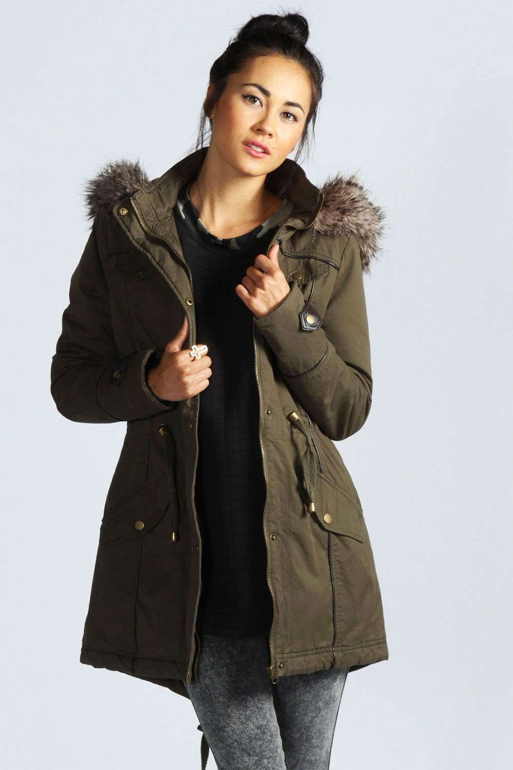 Fitted Parka Jacket - JacketIn