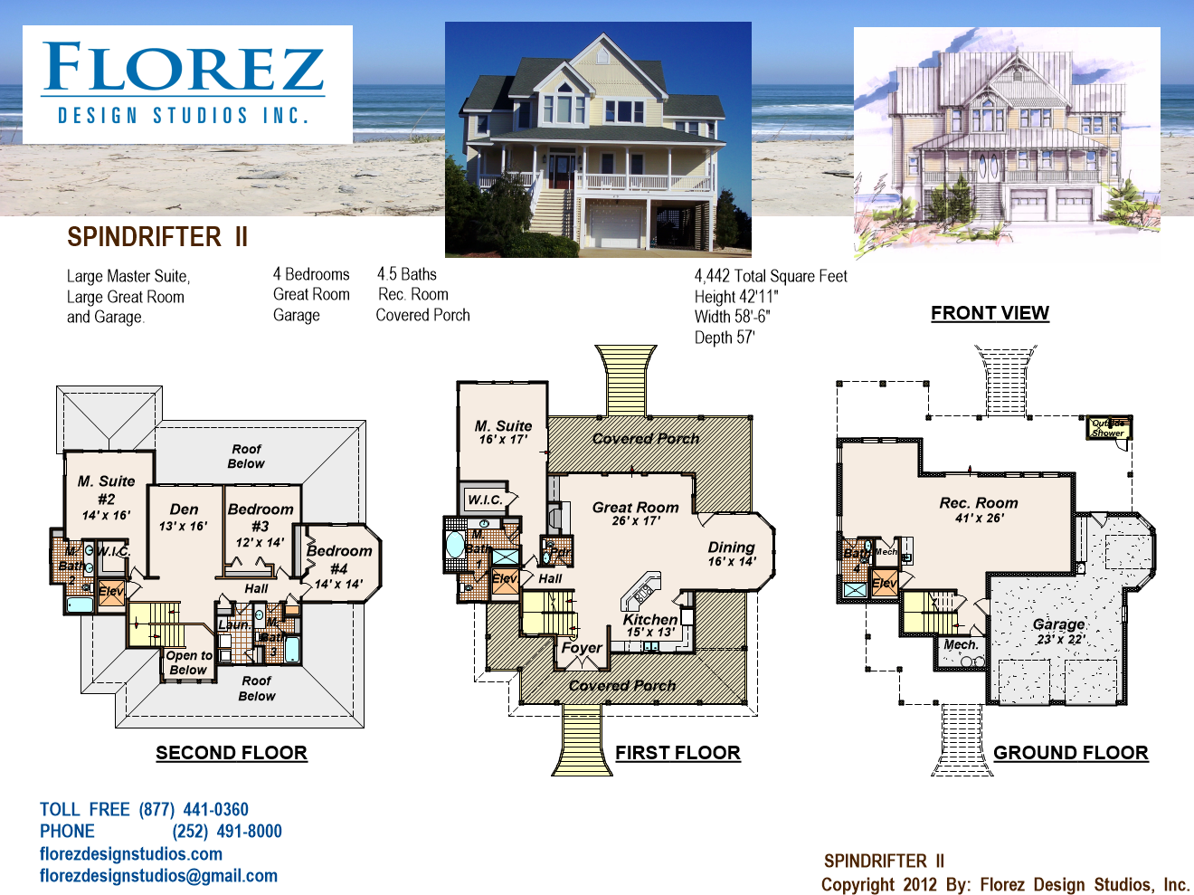 House Plan Home Design Coastal Cottage Beach
