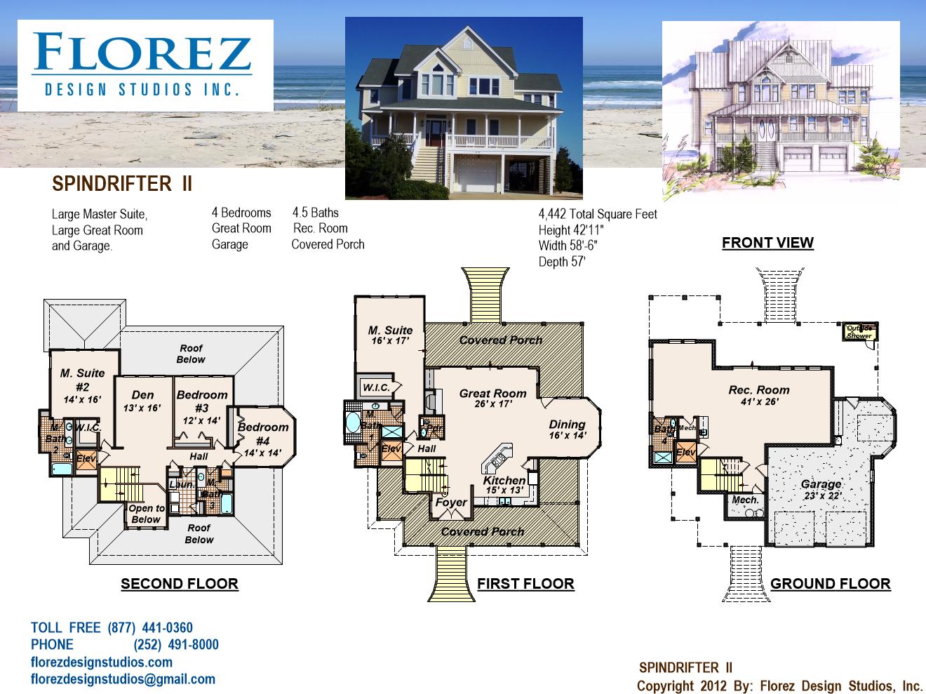 House Plan, Home Design, Coastal House Plan, Coastal cottage, Beach ...