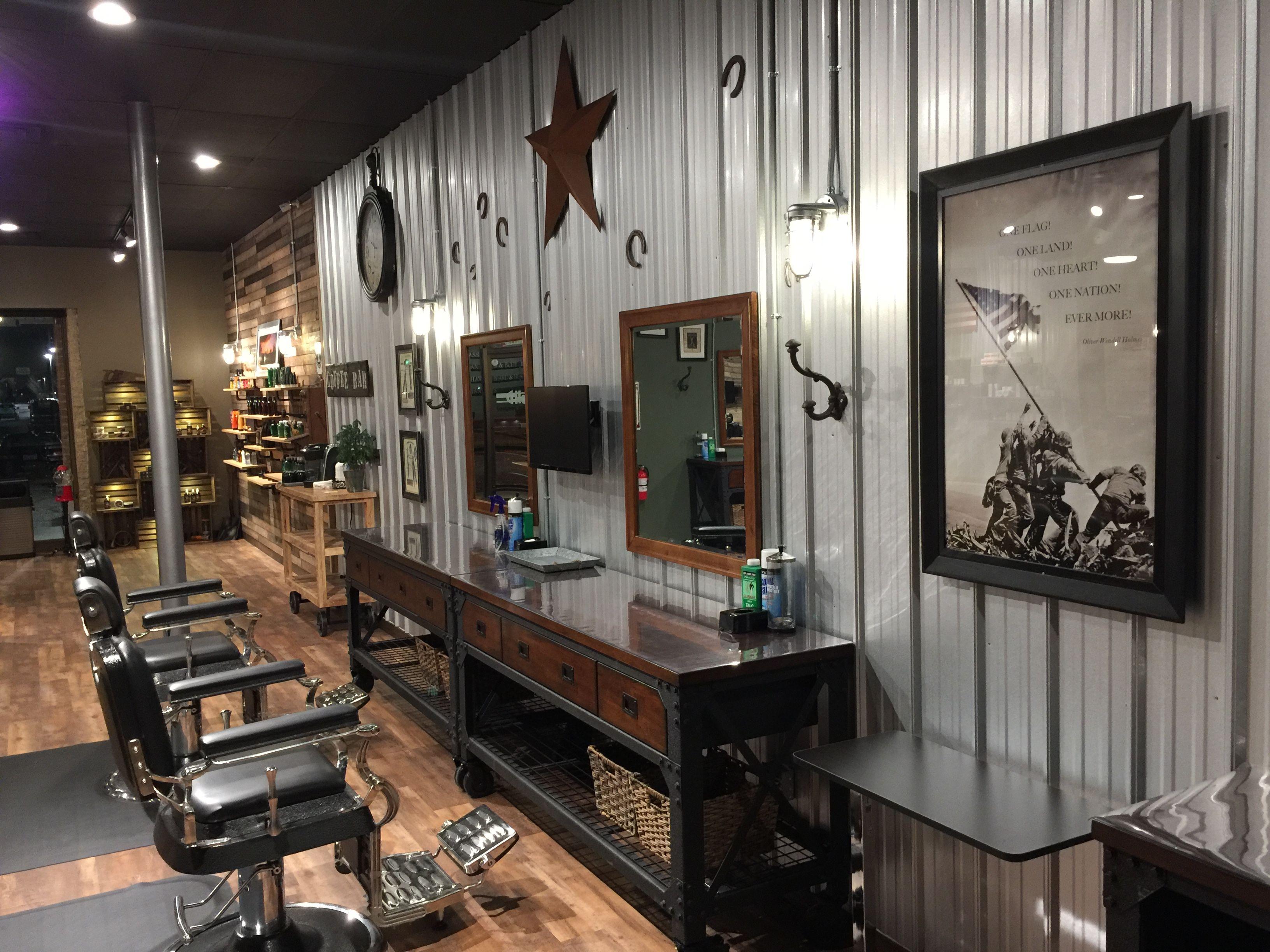 Barber shop barber chairs salon barber shop decor