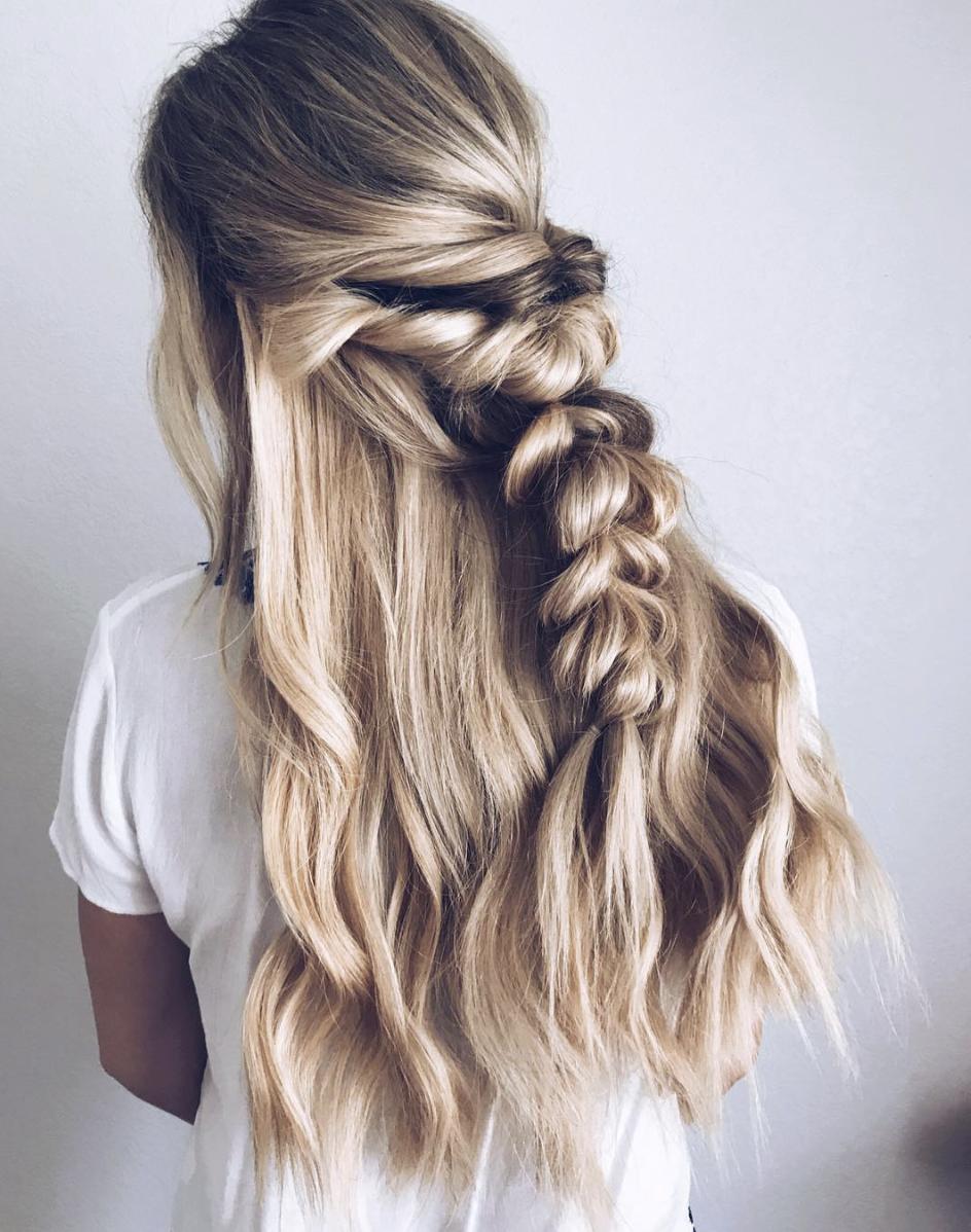 Big beautiful bridal braid hair ideas in hair pinterest