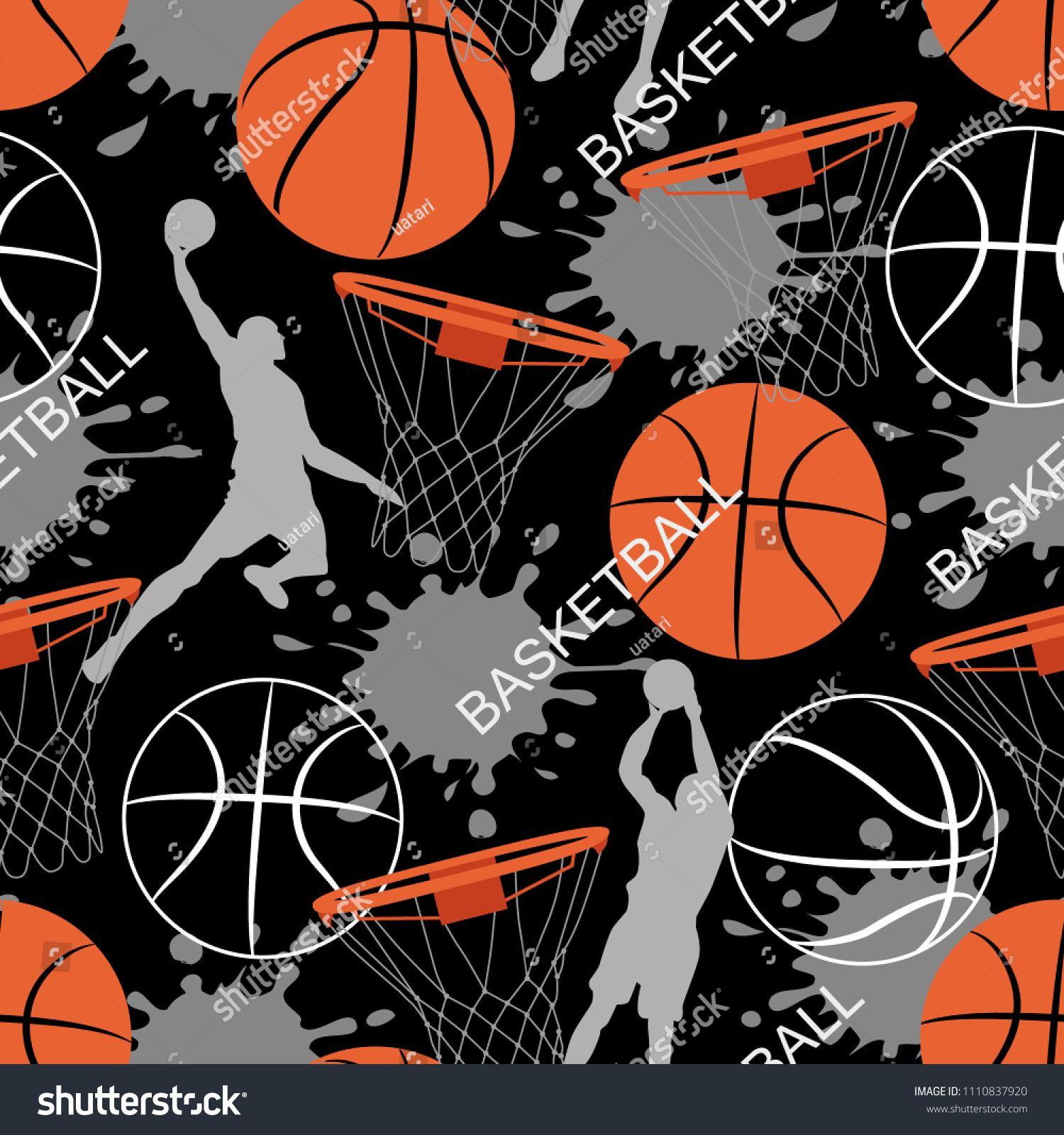 Basketball Game Seamless Pattern Sports Abstract Background Basket Balls Texture Seamless Sport P Seamless Patterns Abstract Backgrounds Background Patterns