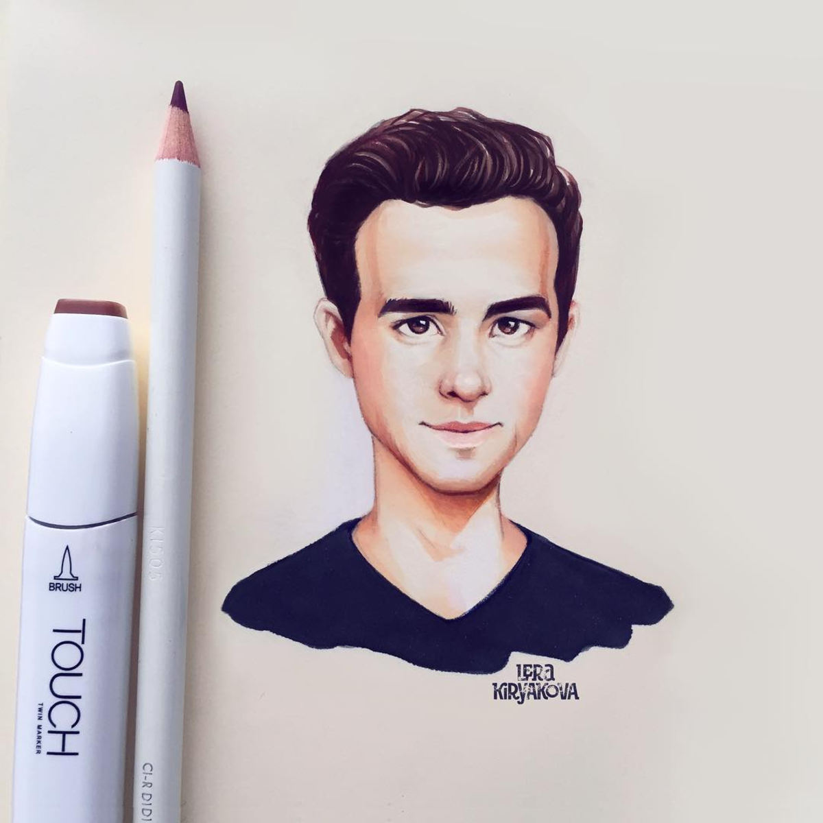 Ryan Reynolds By Lera Kiryakova Celebrities Pinterest Ryan - Russian artist draws amazing cartoon versions of famous celebrities