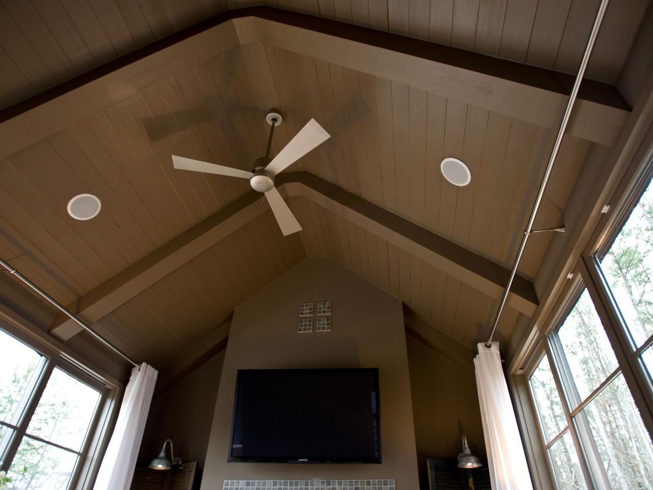 Room From HGTV Green Home 2012 Quiet ceiling fans