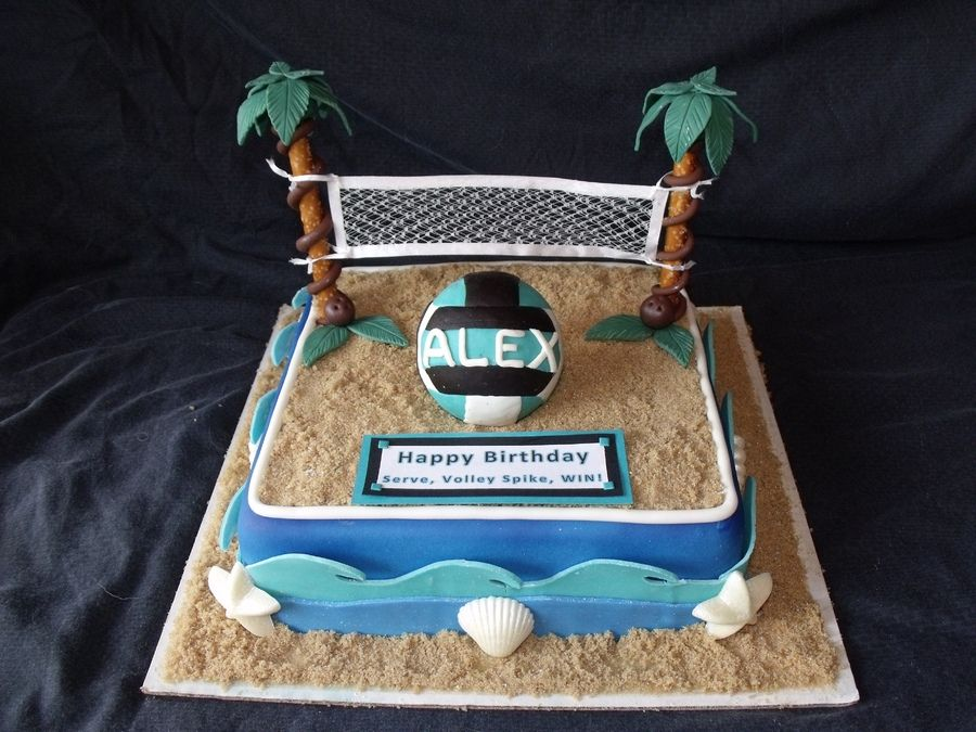 Miraculous Beach Volleyball With Images Volleyball Cakes Volleyball Personalised Birthday Cards Beptaeletsinfo
