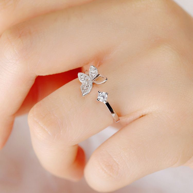 Photo of 1.87US $ 25% OFF 925 Sterling Silver Luxury Crystal Butterfly Rings for Women Jewelry Fashion Open Adjustable Finger Ring ring nikon ring forkring spring – AliExpress