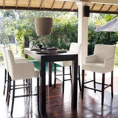 Mesa alta asia comedor moderna desayunador madera 130x75x105 bar house and decorating - Mesa alta comedor ...