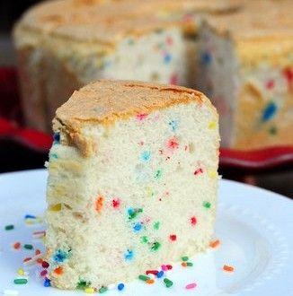 Confetti Angel Food Cake Baking Bites Angle Food Cake Recipes Angel Food Cake Recipes