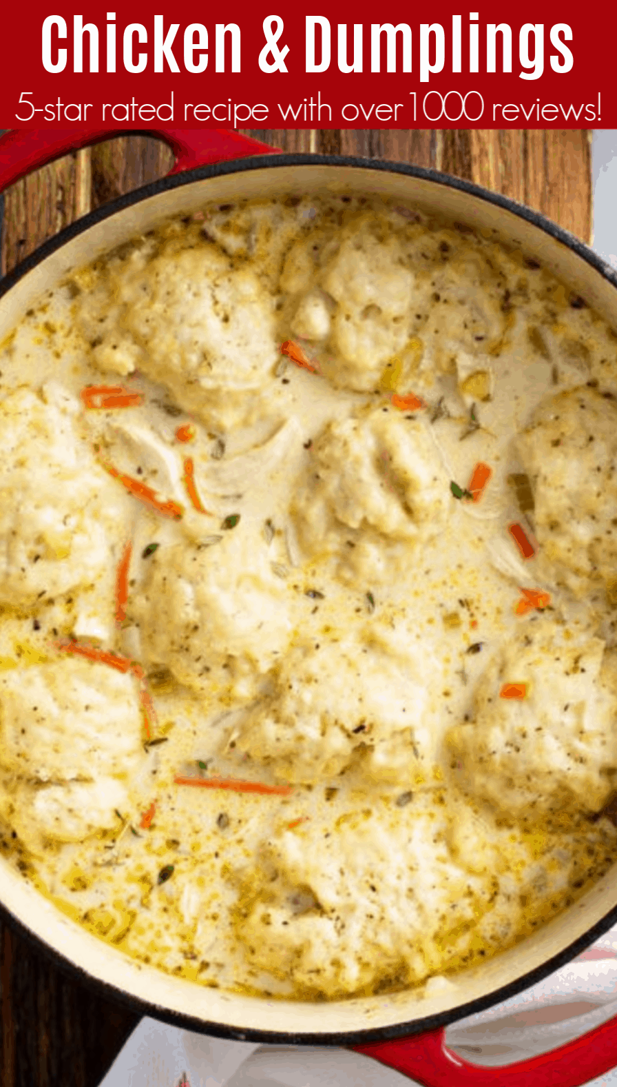 Old Fashioned Chicken & Dumplings - Fluffy Homemad