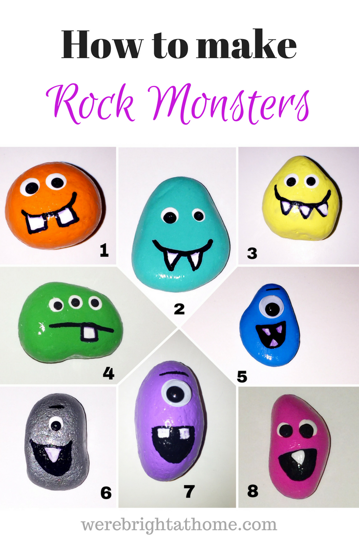 8 Ultimate Painted Rock Monsters For Kids To Make That