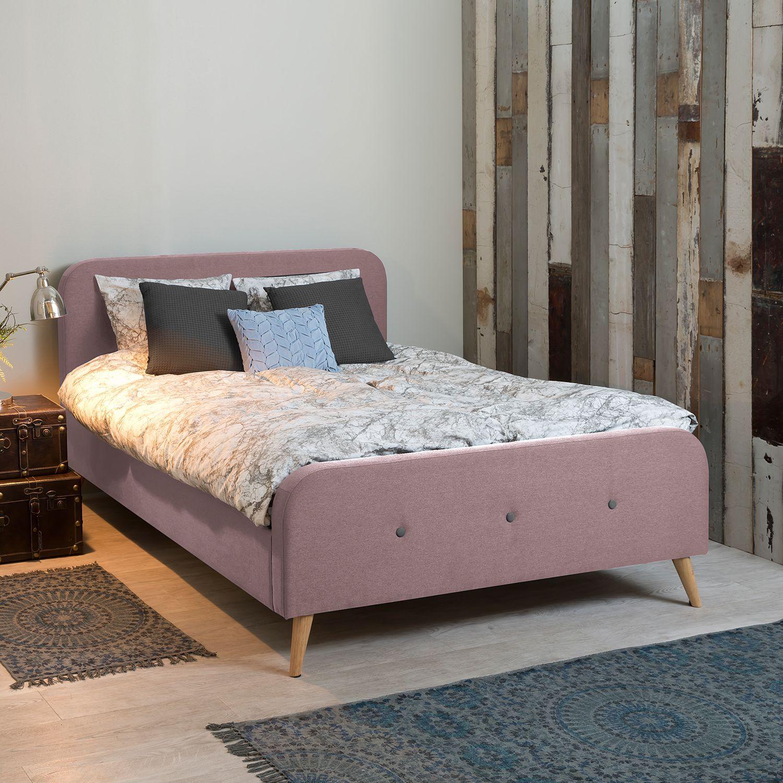 Polsterbett Klink Webstoff 160 X 200cm Altrosa Haus Deko Schlafzimmer Inspirationen Bettgestell