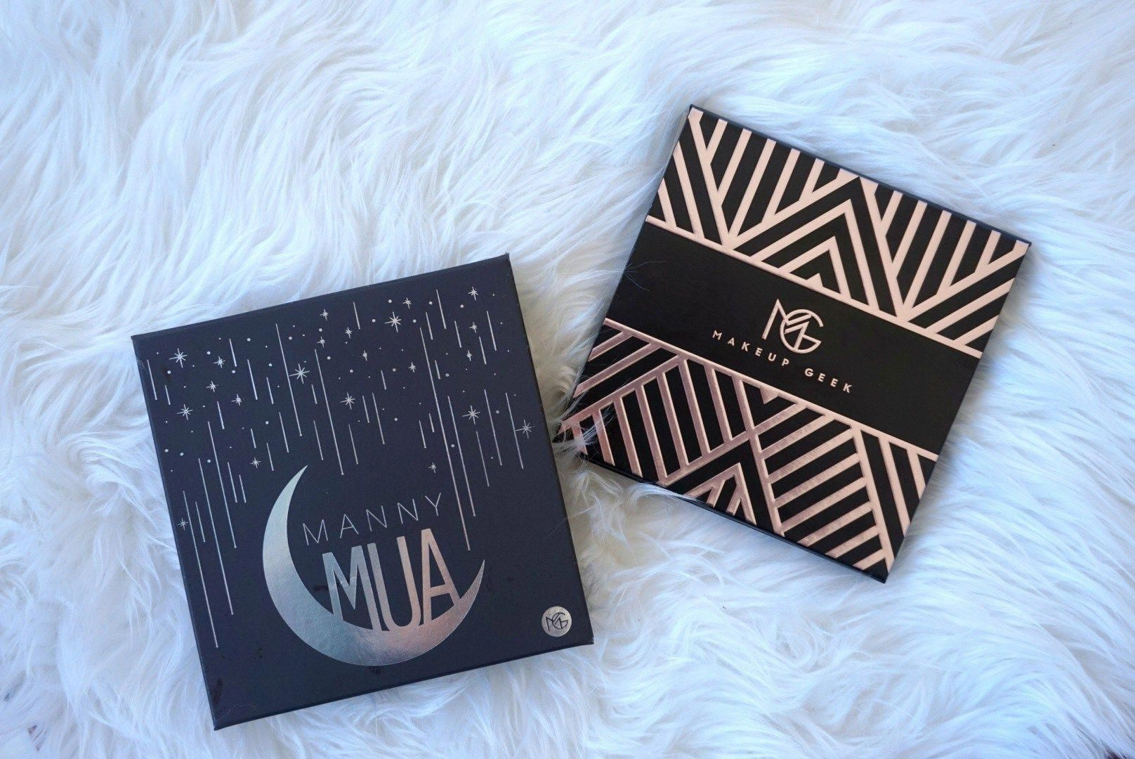 manny mua x makeup geek eyeshadow palette full review and