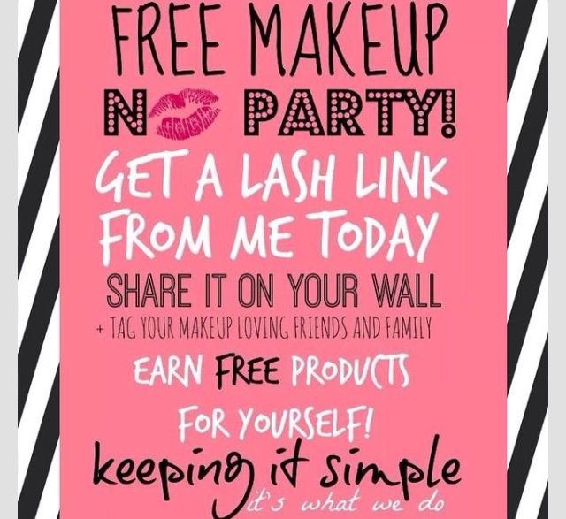 Get a lash link for free makeup!