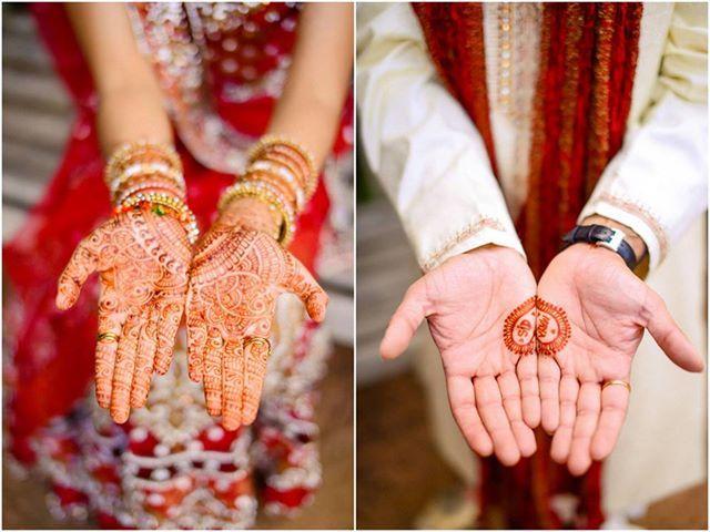 Mehndi Ideas For Groom : Bridal and groom mehndi henna design