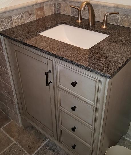 Home Decorators Collection Hazelton 31 In W X 22 In D Bath Vanity In Antique Grey With Granite Vanity Top In Dark Grey Hzagv3122 The Home Depot Granite Vanity Tops White