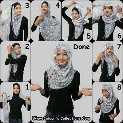 Hijab tutorial! Omg I love this!!!!