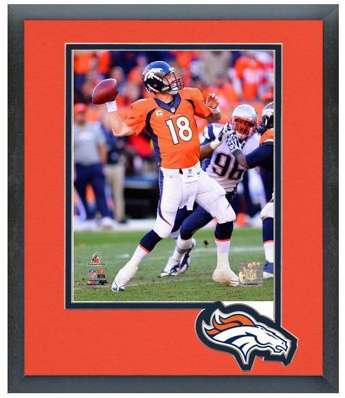 Peyton Manning 2013 AFC Championship Game 1/19/14 - 11 x 14 Matted Framed Photo